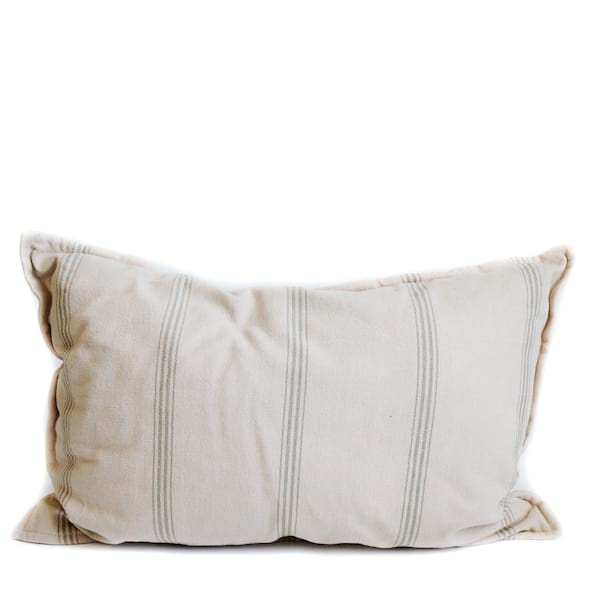 Pillow // Natural Cotton Stripe