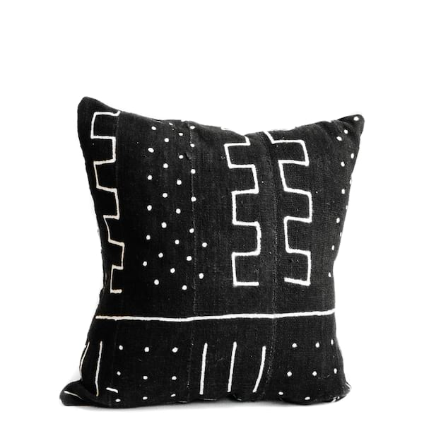 Pillow // Black Mudcloth (lg)