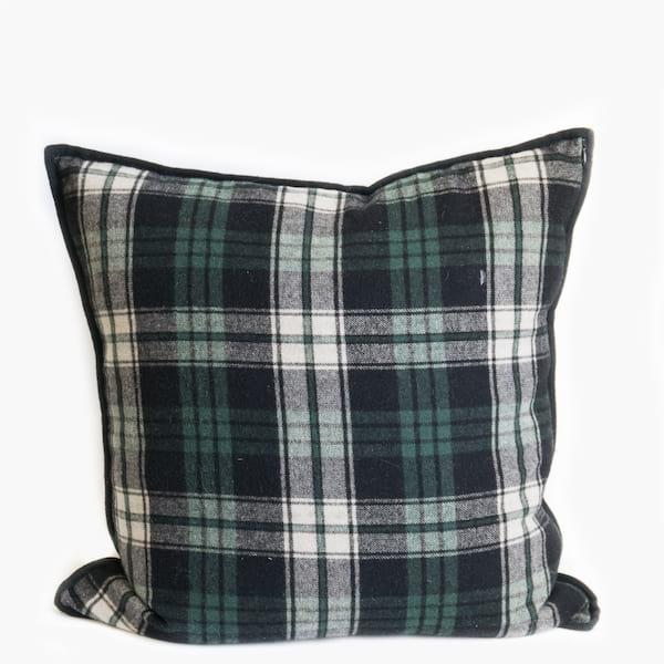 Pillow // Blue + Green Tartan