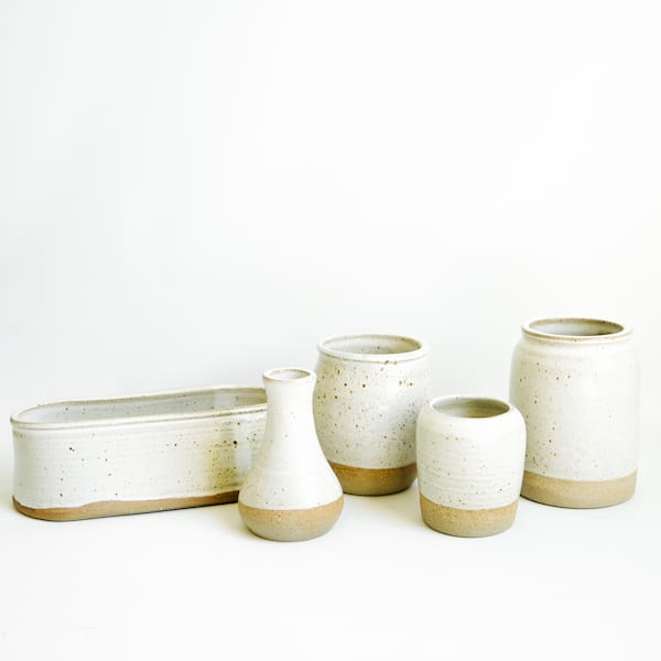 Javelina Pottery, Speckled Cream