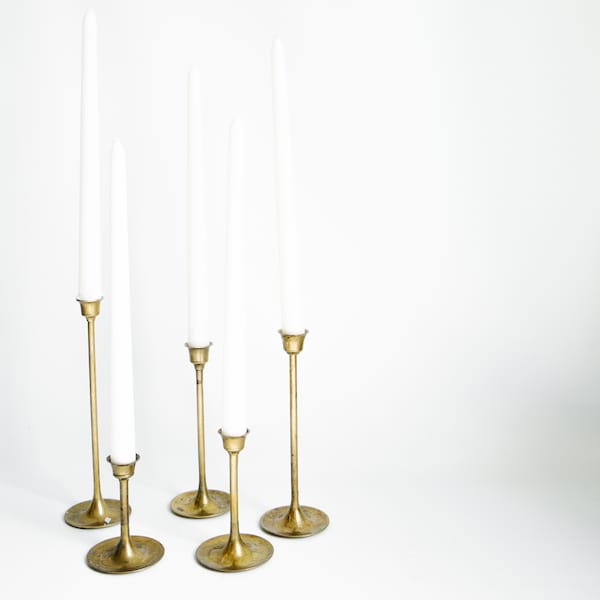 Modern Brass Candlesticks