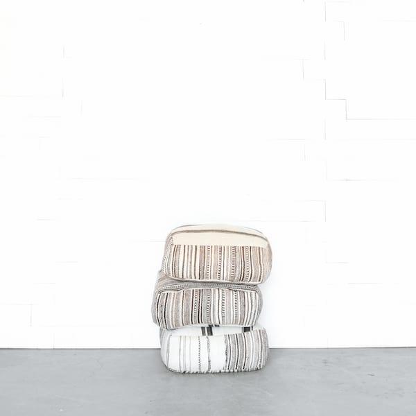 Neutral Moroccan Floor Cushions
