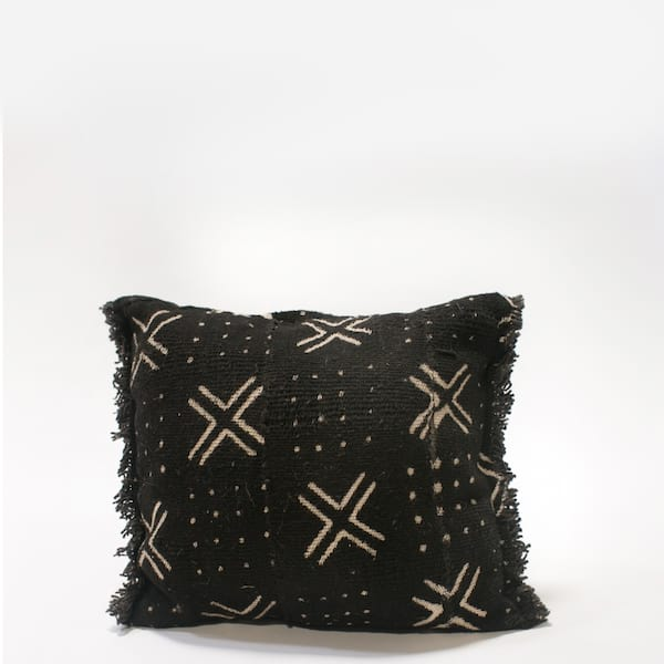 Pillow // Black Mudcloth (sm)