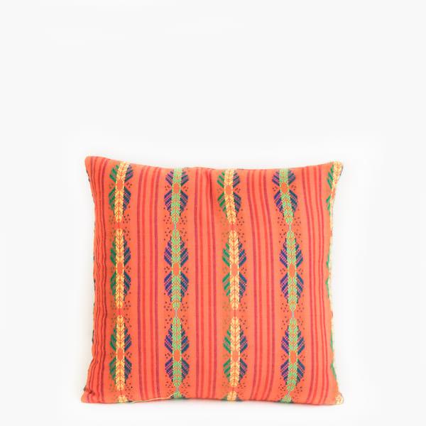 Pillow // Mexican Emboidered Pillow, Peach