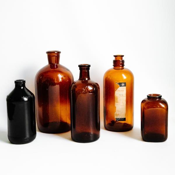 Amber Apothecary Jars