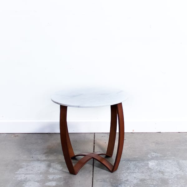 Leather Strap + Marble Table