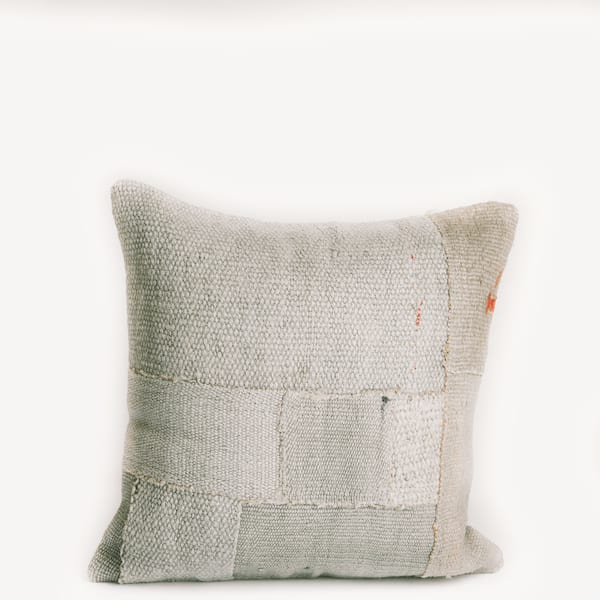 Pillow // Patchwork Dhurrie, Pale Mint