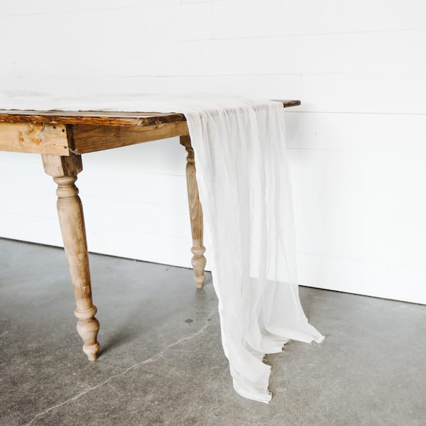Raw Cheesecloth Runners