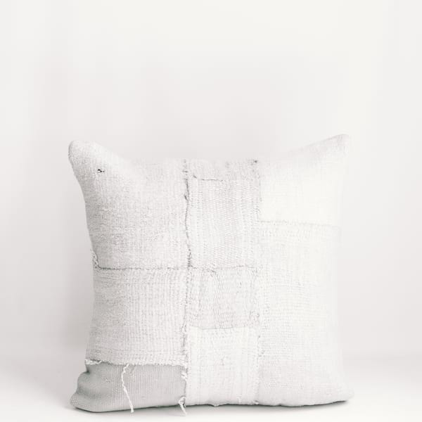 Pillow // Patchwork Dhurrie, Cream