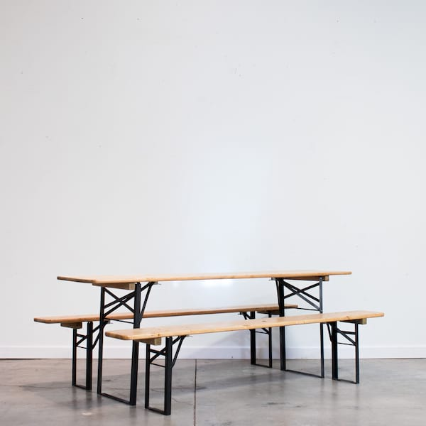 Biergarten Table and Bench Set
