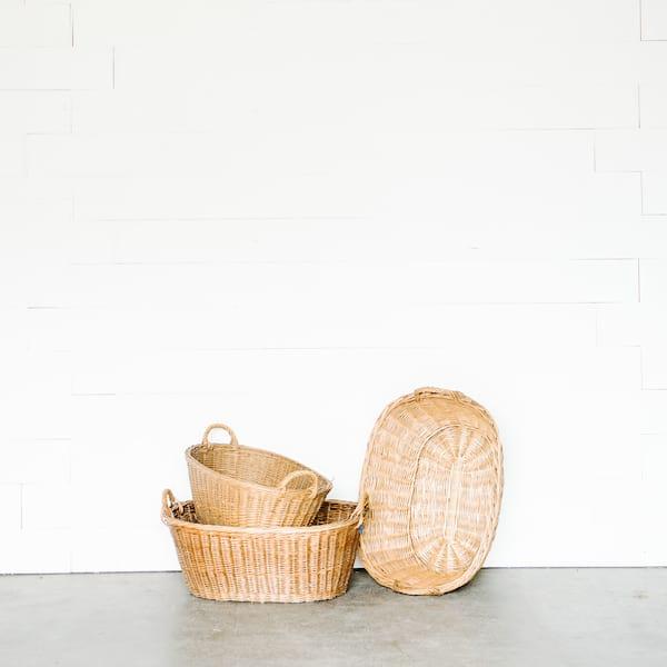 Wicker Wash Basket
