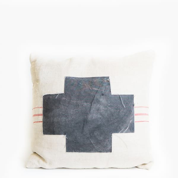 Pillow // Cross Patch Striped Grainsack
