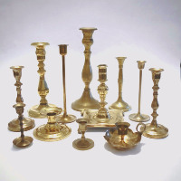 Assorted Brass Candle Holders