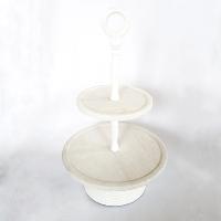 Three Tier Stone & White Pedestal