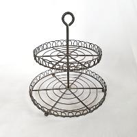 Two Tier Wire Pedestal