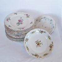 Assorted China Plates