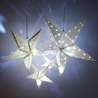 Star Lanterns w/ LED lights, set of 4