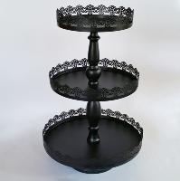 Three Tier Iron Pedestal