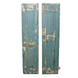 Chippy Teal Shutters (pair)