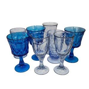 Blue Depression Glassware