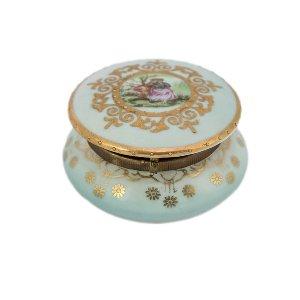 Blue Porcelain Trinket Box