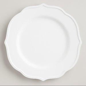 Baroque White Dinner Plate