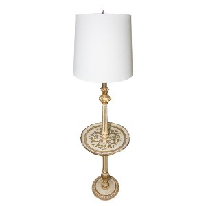 Gold Florentine Floor Lamp