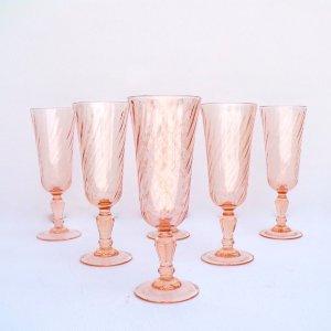Pink Swirl Flutes