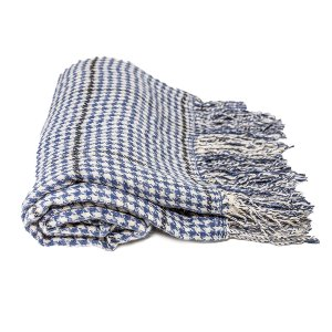 Lightweight Blue Plaid Throw