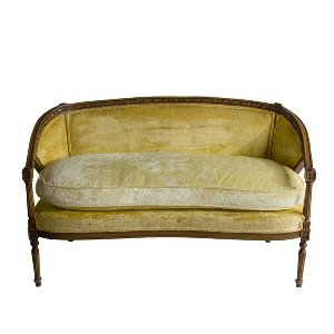 Blanche Yellow Settee
