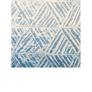 Blue & Cream Patterned Rug