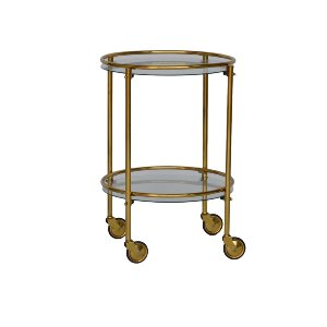 Petite Brass Bar Cart