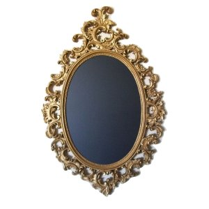 Ornate Oval Gold Chalk Board