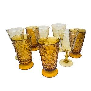 Amber Depression Glassware