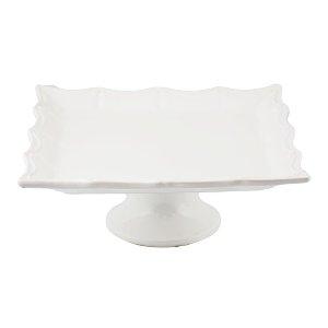 White Square Milk Glass Stand