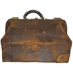 Distressed Leather Medical Bag