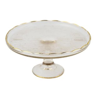 Scalloped Crystal Cake Stand