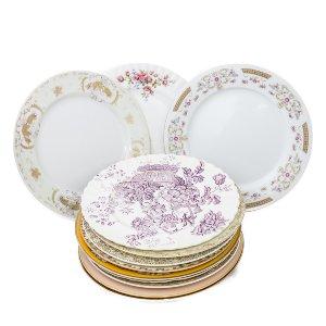 Mismatched Dinner Plates