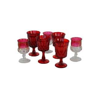 Red Depression Glassware