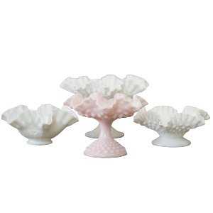 Milk Glass Compote Bowls