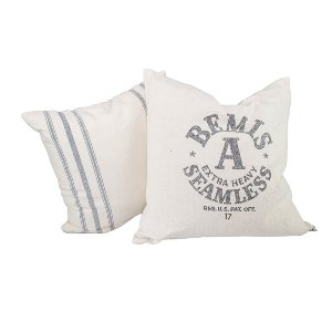 Pair of Seamless Grain Sack Pillows