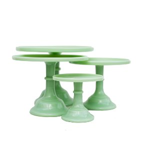 Jade Milk Glass Cake Stands