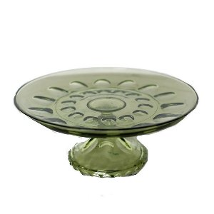 Green Glass Cake Stand