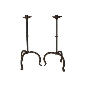 Cast Iron Candlesticks (Pair)