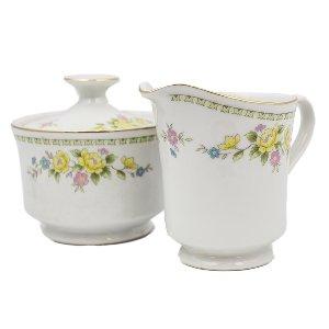 Floral Cream and Sugar Set