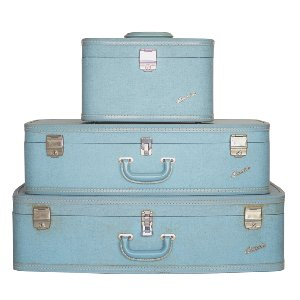 Emerald Light Blue Luggage Set