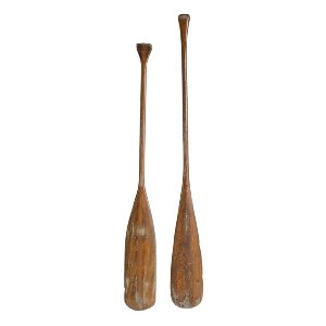 Vintage Wooden Oars (set)