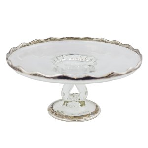 Silver and Crystal Stand