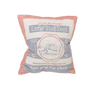 Petite Feedsack Pillow