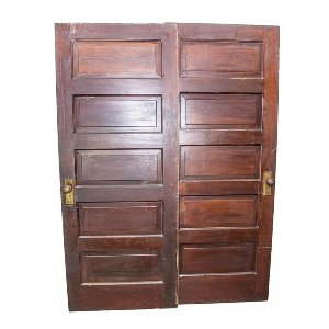 Salvaged Brown Doors